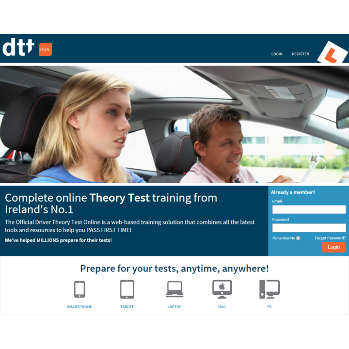 Official Driver Theory Test Online -  Subscription for Six Months