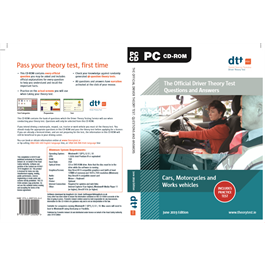 PROD031 SIGN LANGUAGE - Official Driver Theory Test Questions and Answers Motorcycles, Cars and Work Vehicles