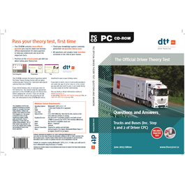 PROD037 Official Driver Theory Test Questions and Answers, Truck & Buses CDROM (Including Step 1 and Step 2 of Driver CPC) June 2017 Edition